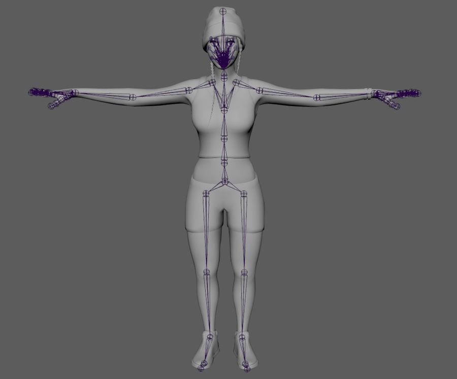 黑人妇女 royalty-free 3d model - Preview no. 18