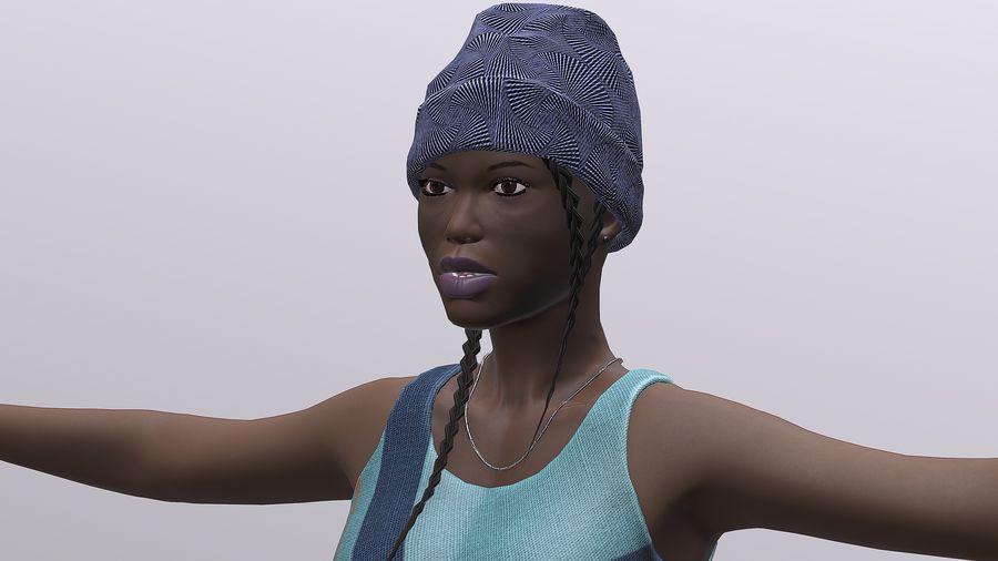 黑人妇女 royalty-free 3d model - Preview no. 4