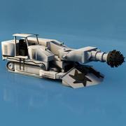 掘削車 3d model
