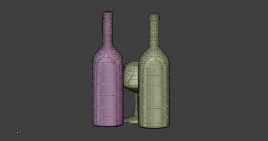 Şarap şişesi royalty-free 3d model - Preview no. 5