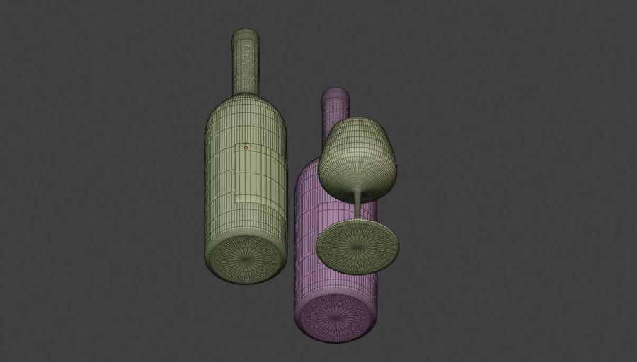 Şarap şişesi royalty-free 3d model - Preview no. 6