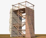 Climbing Wall Tower 3d model