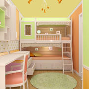 Model sypialni dziecięcej 3d model