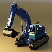 Escavadora telescópica 3d model