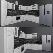 Classic kitchen and appliances 3d model