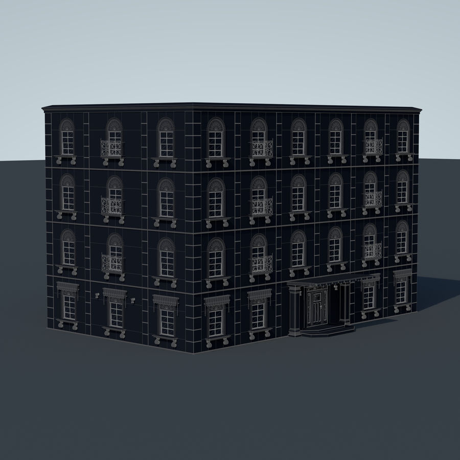 模块化建筑 royalty-free 3d model - Preview no. 9