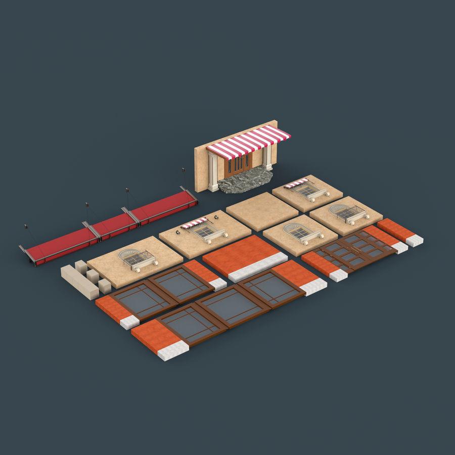 模块化建筑 royalty-free 3d model - Preview no. 8