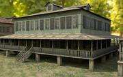 New Orleans Wood Houses Pack 3d model