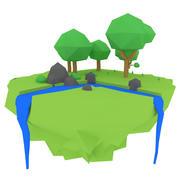 나무와 강 3d model