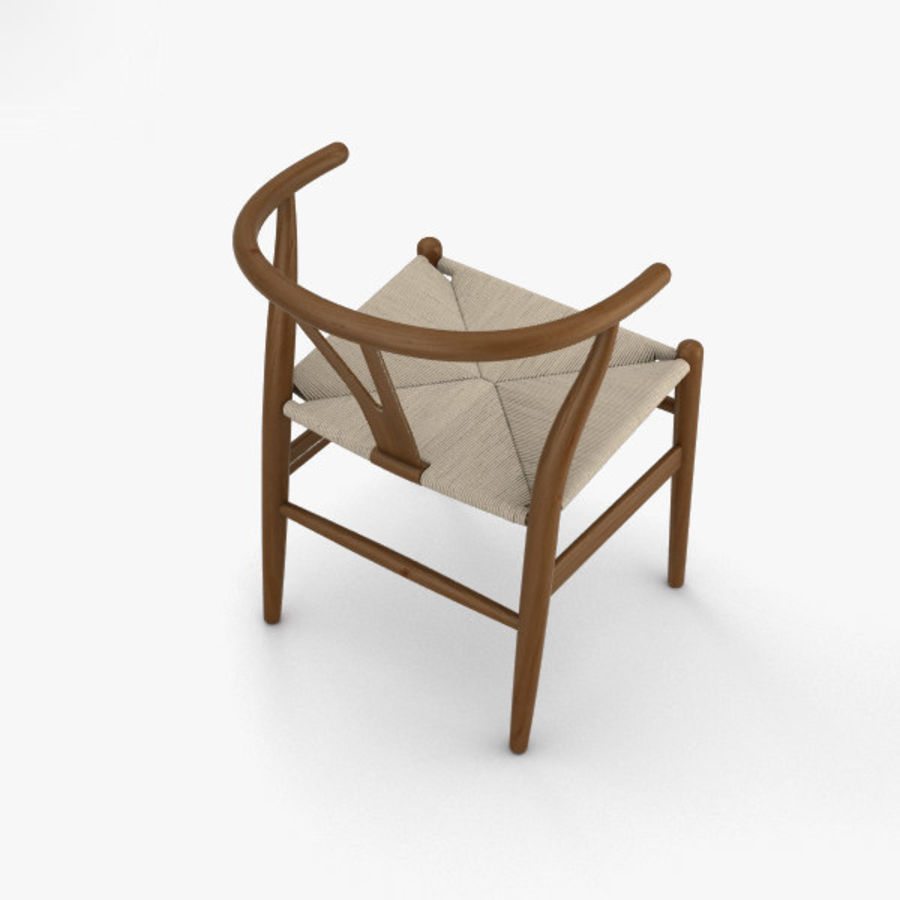 Wishbone-stol royalty-free 3d model - Preview no. 9