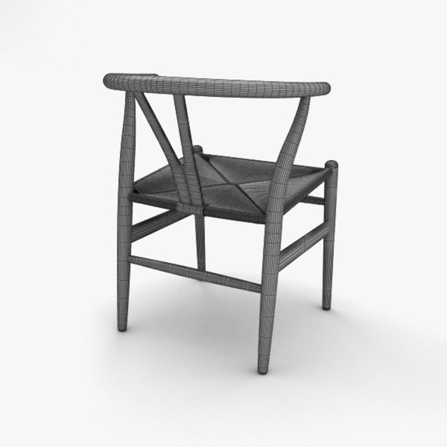 Wishbone-stol royalty-free 3d model - Preview no. 4