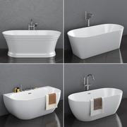 Set of freestanding baths RAVAK set 35 3d model