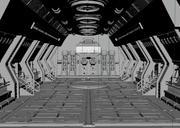 Sci fi Hangar 3d model