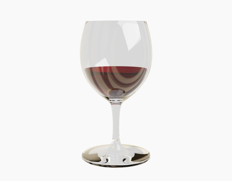 Бокал вина royalty-free 3d model - Preview no. 14
