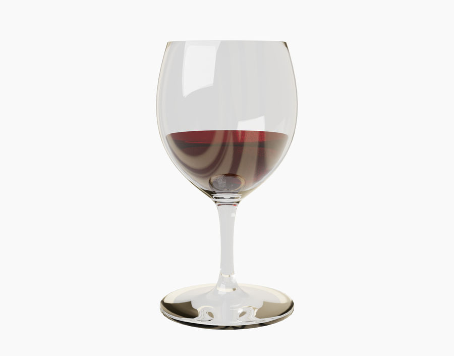 Бокал вина royalty-free 3d model - Preview no. 20