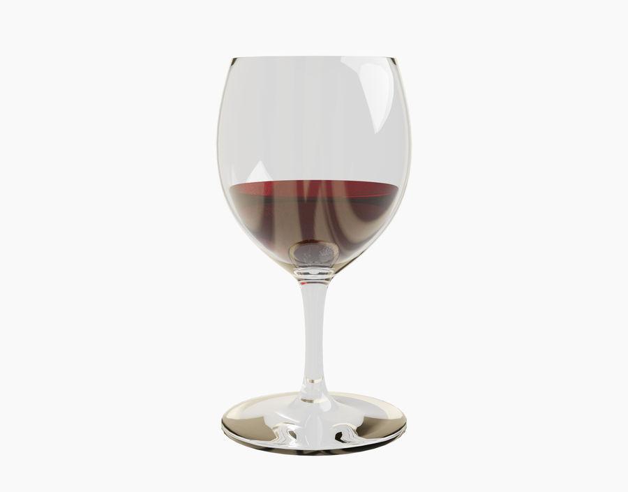 Бокал вина royalty-free 3d model - Preview no. 12