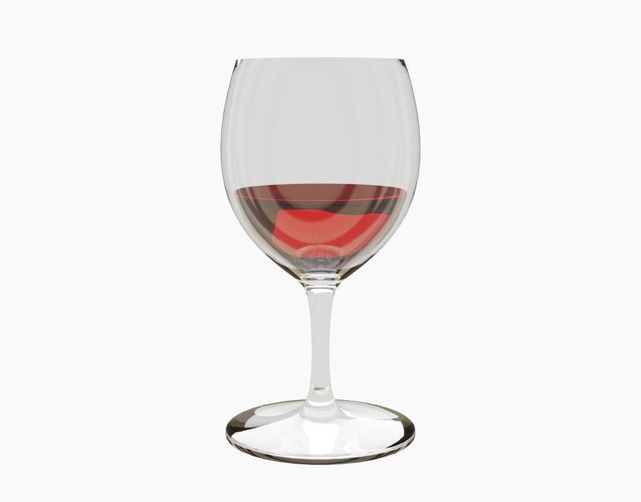 Бокал вина royalty-free 3d model - Preview no. 7
