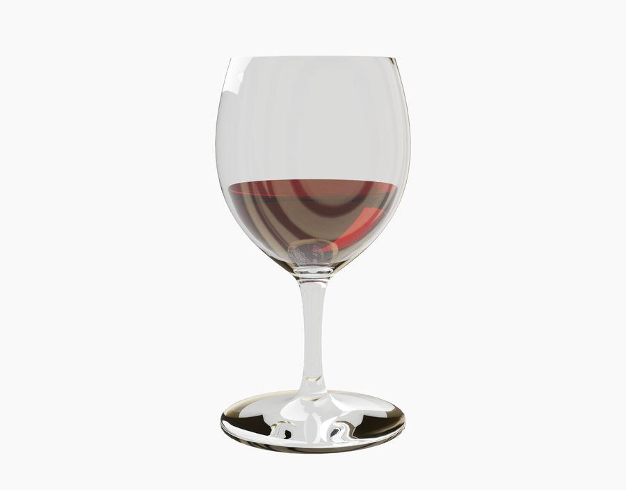 Бокал вина royalty-free 3d model - Preview no. 5