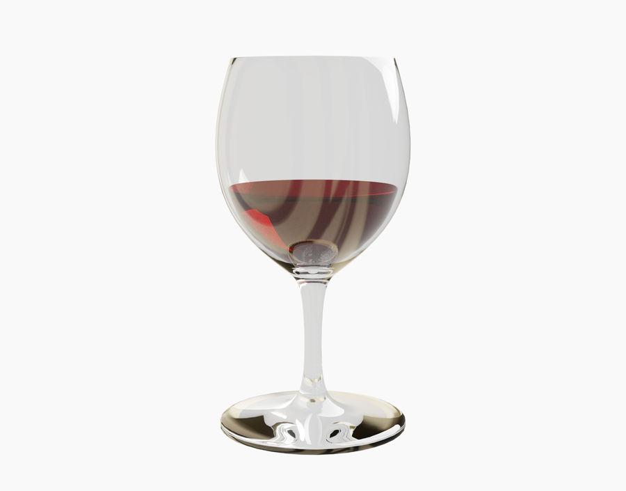 Бокал вина royalty-free 3d model - Preview no. 10