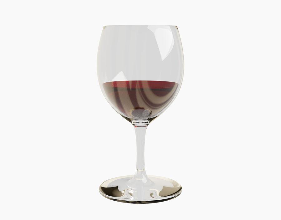 Бокал вина royalty-free 3d model - Preview no. 13