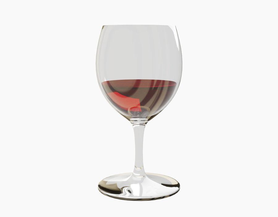 Бокал вина royalty-free 3d model - Preview no. 9