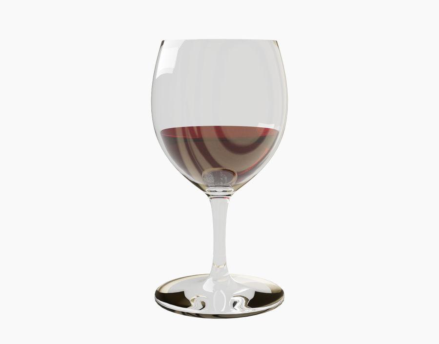 Бокал вина royalty-free 3d model - Preview no. 4