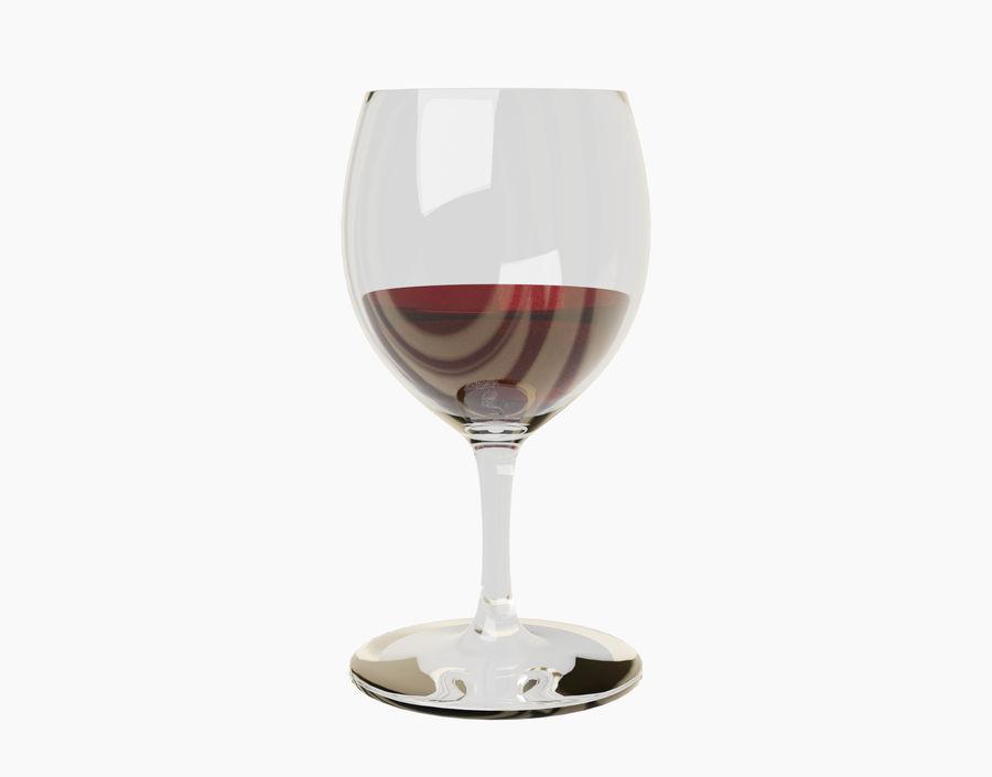 Бокал вина royalty-free 3d model - Preview no. 19