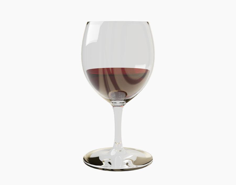 Бокал вина royalty-free 3d model - Preview no. 3