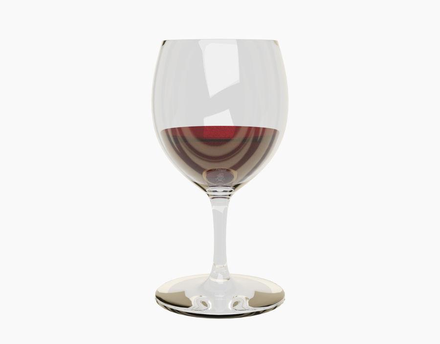 Бокал вина royalty-free 3d model - Preview no. 17
