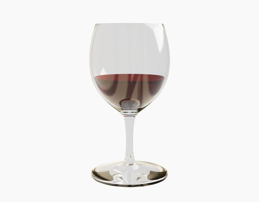 Бокал вина royalty-free 3d model - Preview no. 11