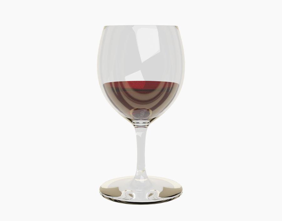 Бокал вина royalty-free 3d model - Preview no. 16