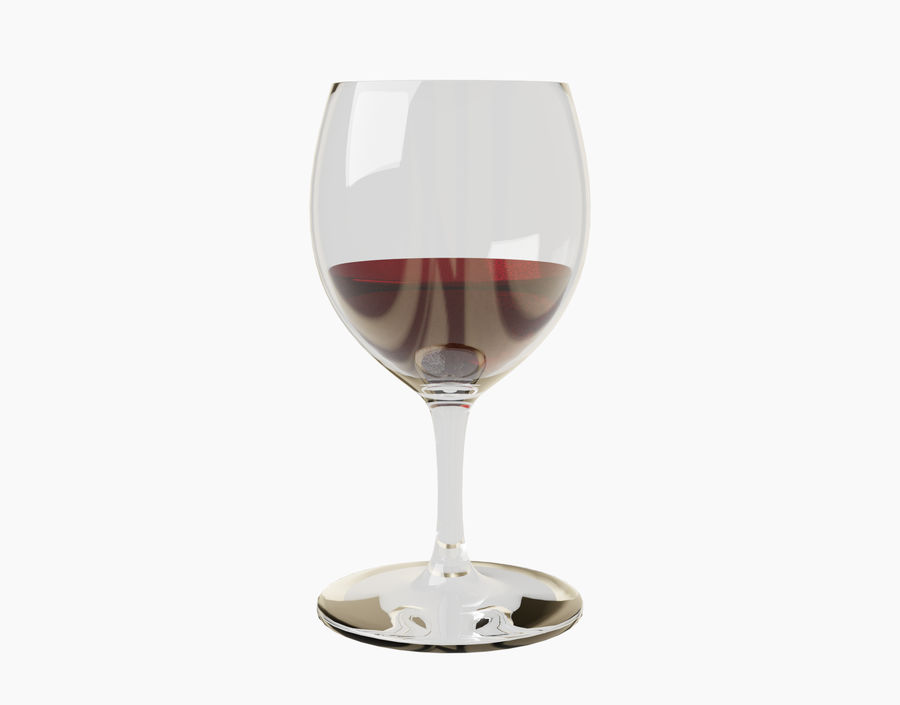 Бокал вина royalty-free 3d model - Preview no. 21