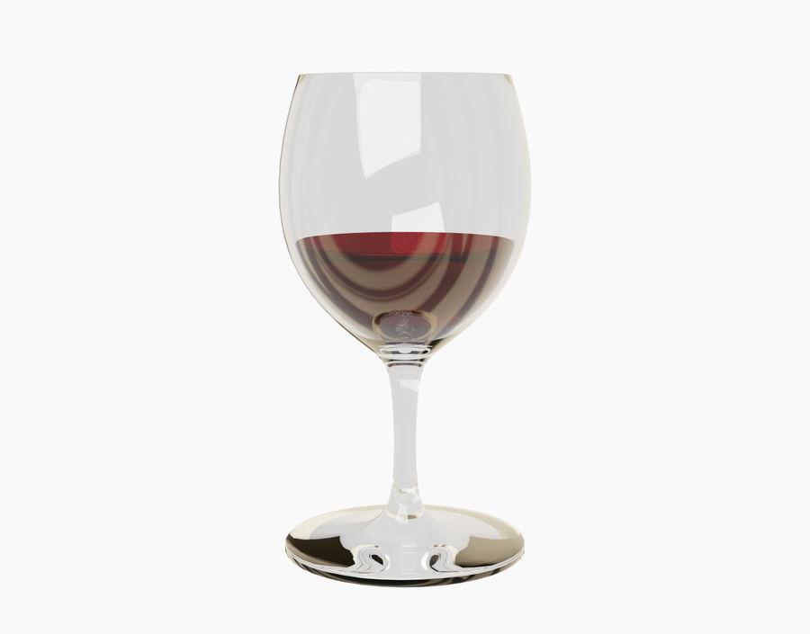 Бокал вина royalty-free 3d model - Preview no. 18