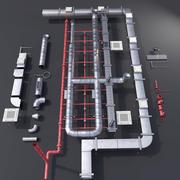 Teto de tubulação 3d model