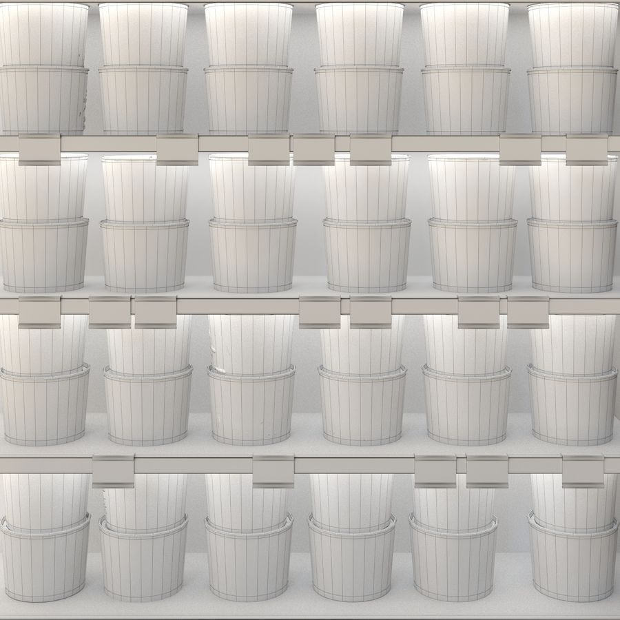 Fruit boxes royalty-free 3d model - Preview no. 2