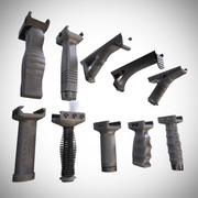 Foregrip Attachments Pack | Vertical - Angled - Folding | PBR | 4K Textures | Unity & Unreal | Low Poly 3d model