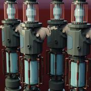fonte di energia 3d model