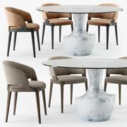Poltrona Velis Anfora conjunto de mesa 3d model