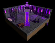 Low Poly Dungeon - Purple version 3d model
