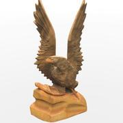 Scansione 3D di statuetta d'aquila 3d model