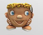 Zabawny skan 3D Pot Niski i Hi-poly model 3D 3d model