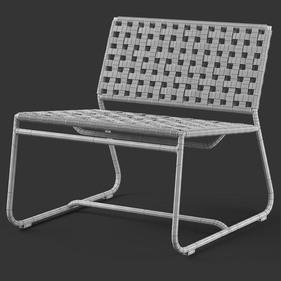 Globewest Marina Chair royalty-free 3d model - Preview no. 6