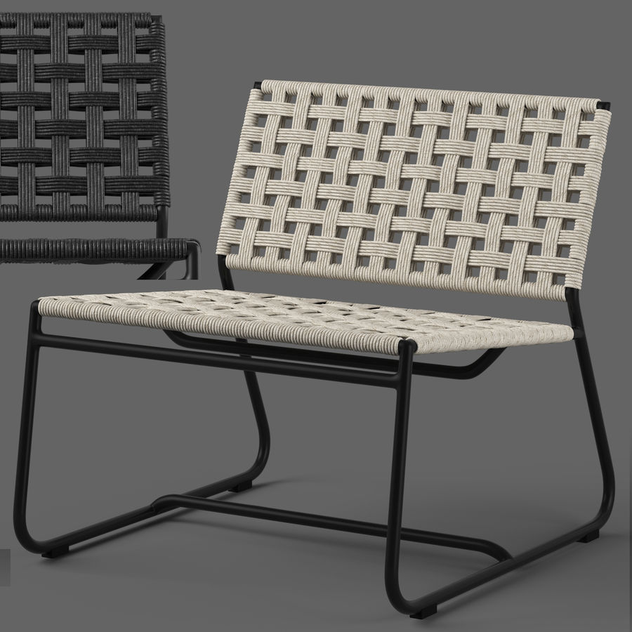 Globewest Marina Chair royalty-free 3d model - Preview no. 1