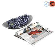 水果碗葡萄 3d model