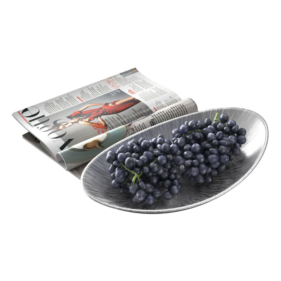 Uvas para fruteiras royalty-free 3d model - Preview no. 2