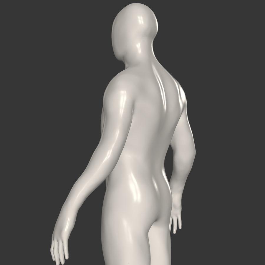 男性ベースメッシュ royalty-free 3d model - Preview no. 3