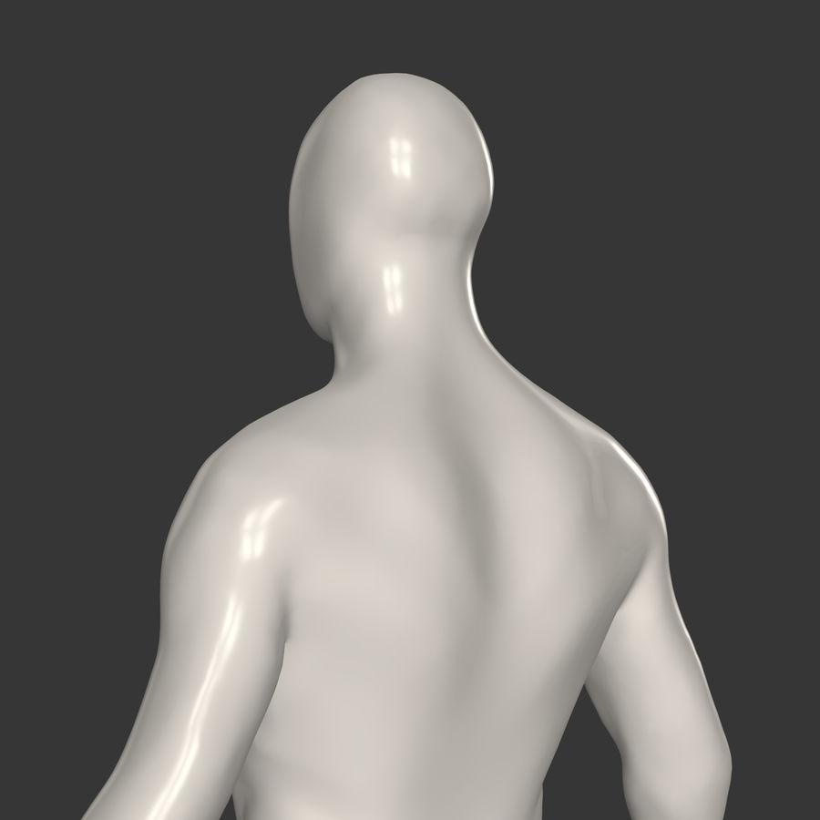 男性ベースメッシュ royalty-free 3d model - Preview no. 5