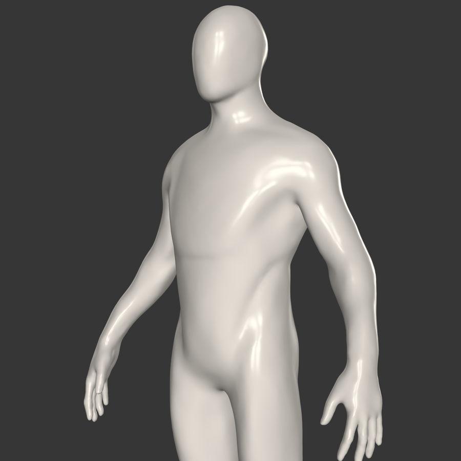 男性ベースメッシュ royalty-free 3d model - Preview no. 2