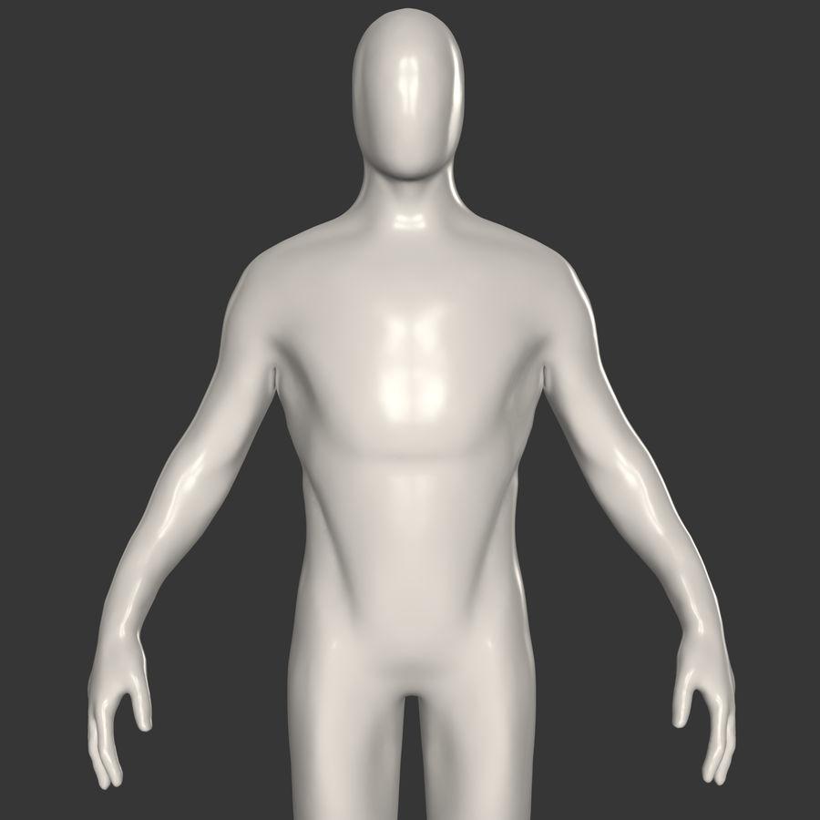 男性ベースメッシュ royalty-free 3d model - Preview no. 1