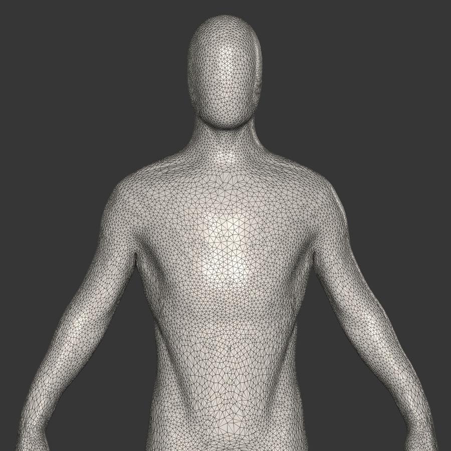 男性ベースメッシュ royalty-free 3d model - Preview no. 9
